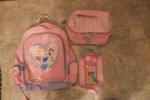 Disney Princess Backpack, lunch bag and pencil case