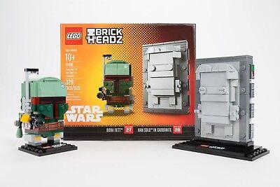 LEGO BRICKHEADZ NYCC STAR WARS BOBA FETT AND HAN SOLO IN CARBONITE  #41498