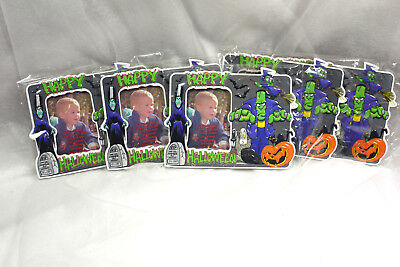 Halloween Frames For Photos (Halloween Photo Puff Frame Magnet & Easel Back Lot of 5 for 2.5 x 3.5)