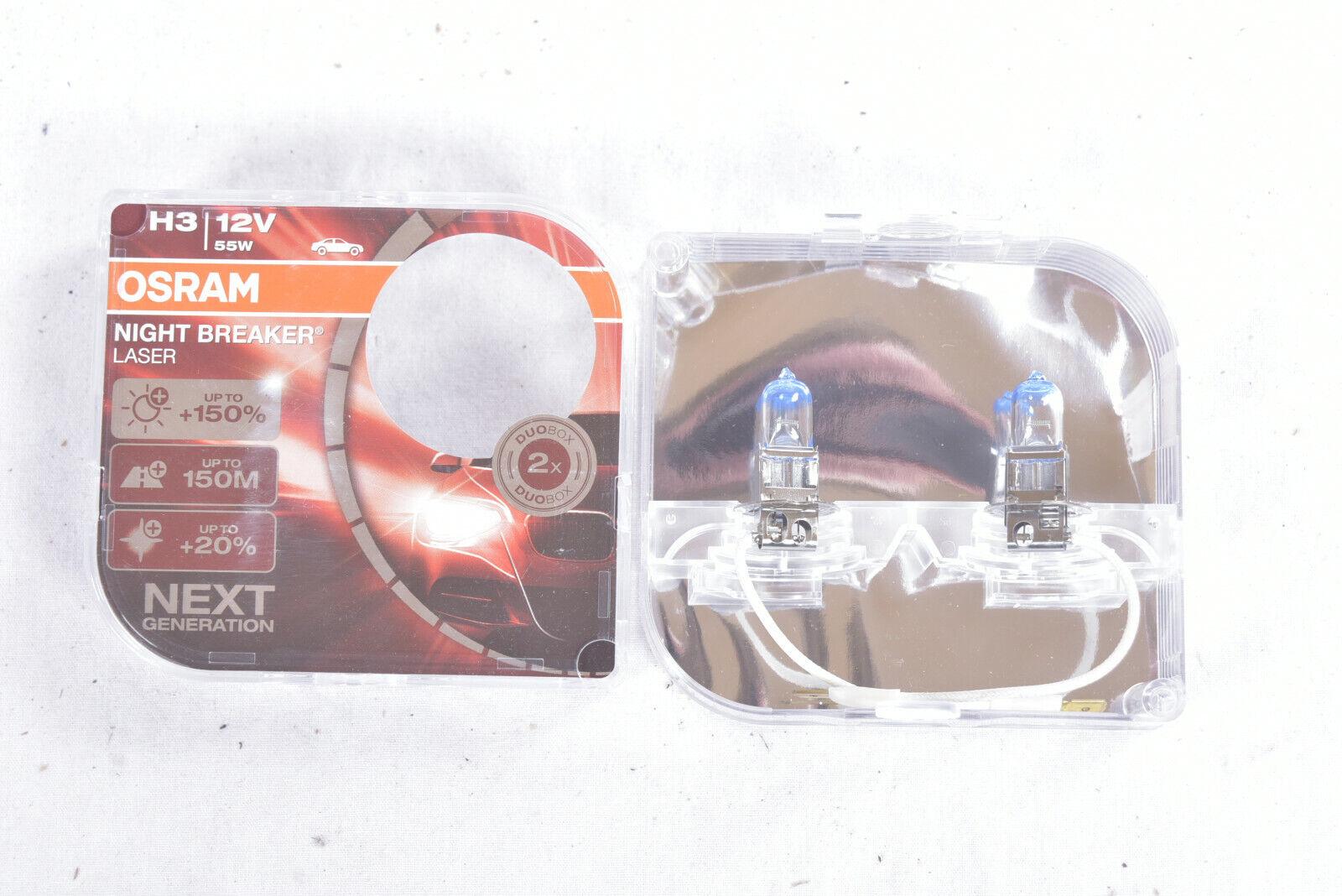 Osram Night Breaker Laser H3 Glühlampen Lampe Scheinwerfer Set 150% mehr Licht