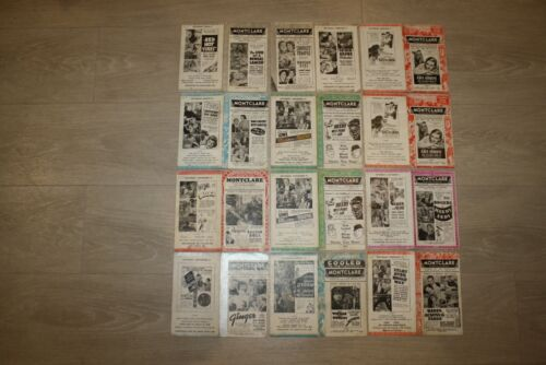 Lot of 12 1930s Montclare Movie Theater Programs Laurel Hardy Shirley Temple