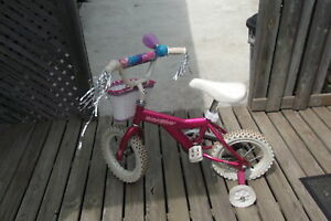 "Girls Bicycle with Training Wheels 12"" tires"