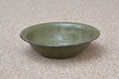 old enamelled enamel washing bowl shabby bath chic 34.5 cm FREE POSTAGE