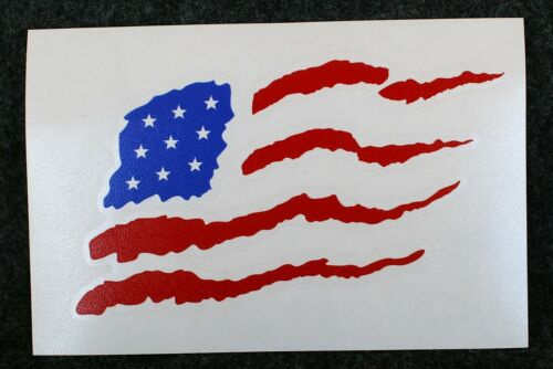"""American Flag Decals, 1000, Fundraiser, 5"""" x 3"""", Permanent, Glossy, In/Out"""