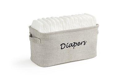 Dejaroo Baby Diaper Storage Bin - Nursery Organizer Caddy -