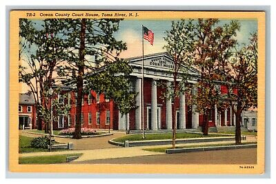 Toms River NJ, Ocean County Courthouse, New Jersey c1950 Postcard (Toms River New Jersey County)