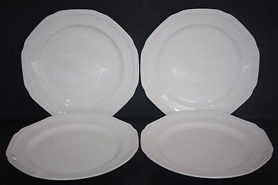 Set of 4 Mikasa Antique White (Bone China) Dinner Plates Mikasa Antique White China