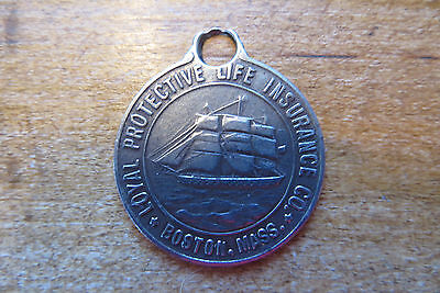 Old Loyal Protective Life Insurance Charm  Key Chain  Boston  Income  Promotion