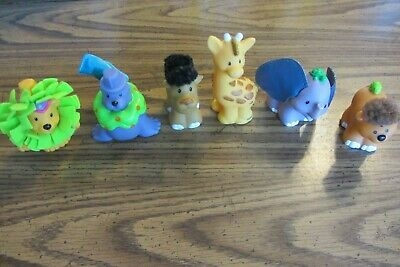 Fisher Price Little People Touch and Feel Circus Zoo Animals lot of 6