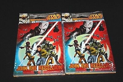 New Star Wars Party Invitation Lot 2 Packs 8 Cards Each Plus Thank You Cards -J= - Star Wars Invitation