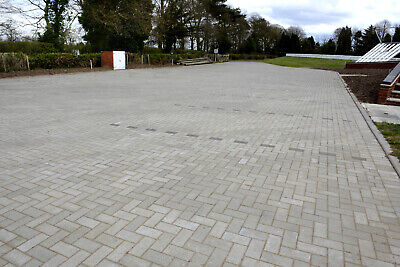 9.76m² Single Size 200x100x50mm Smooth Driveway Block Paving Natural