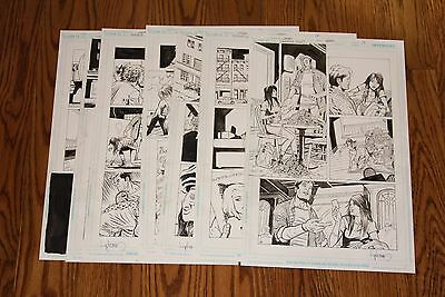 HOUSE OF MYSTERY #38 ORIGINAL ART LOT - DAVID LAPHAM 7 PAGES FROM SHORT STORY