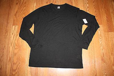 NWT Mens Weatherproof BLACK Long Sleeve Warm Layer Top Crew Shirt L Large bec9b2d82