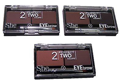 Cosmetics  Eyebrow Shadow Powder Kit With Brush 3 Colors Choice  (COSEBP  Z)