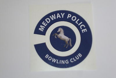 MEDWAY POLICE BOWLING CLUB    16 BOWLS STICKERS LAWN BOWLS 8 FINGER + 8 THUMB