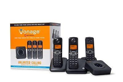 MOTOROLA 3-Landline Cordless Telephone Portable Wireless Mobil Home Office Phone (Motorola Landline Telephone)
