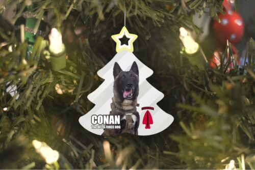 CONAN the Dog Delta Force Tree Ornament