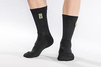 FIA Nomex kurze Socken Classic uni schwarz FIA 8856-2000