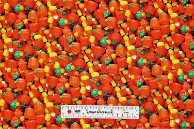 Halloween Real Photo Candy Corn Cotton Fabric  BTY  (F) *](Halloween Candy Photos)
