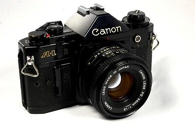 Canon A-1 A1 Film Camera with 50mm Lens - Very Good