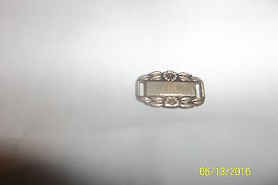 Sterling Silver WWII Forget-Me-Not  Bracelet charm  Link 253571 Ma