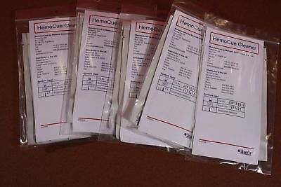 Lot Of 5 Packages Of 5 Total 25 Hemocue Cleaners.