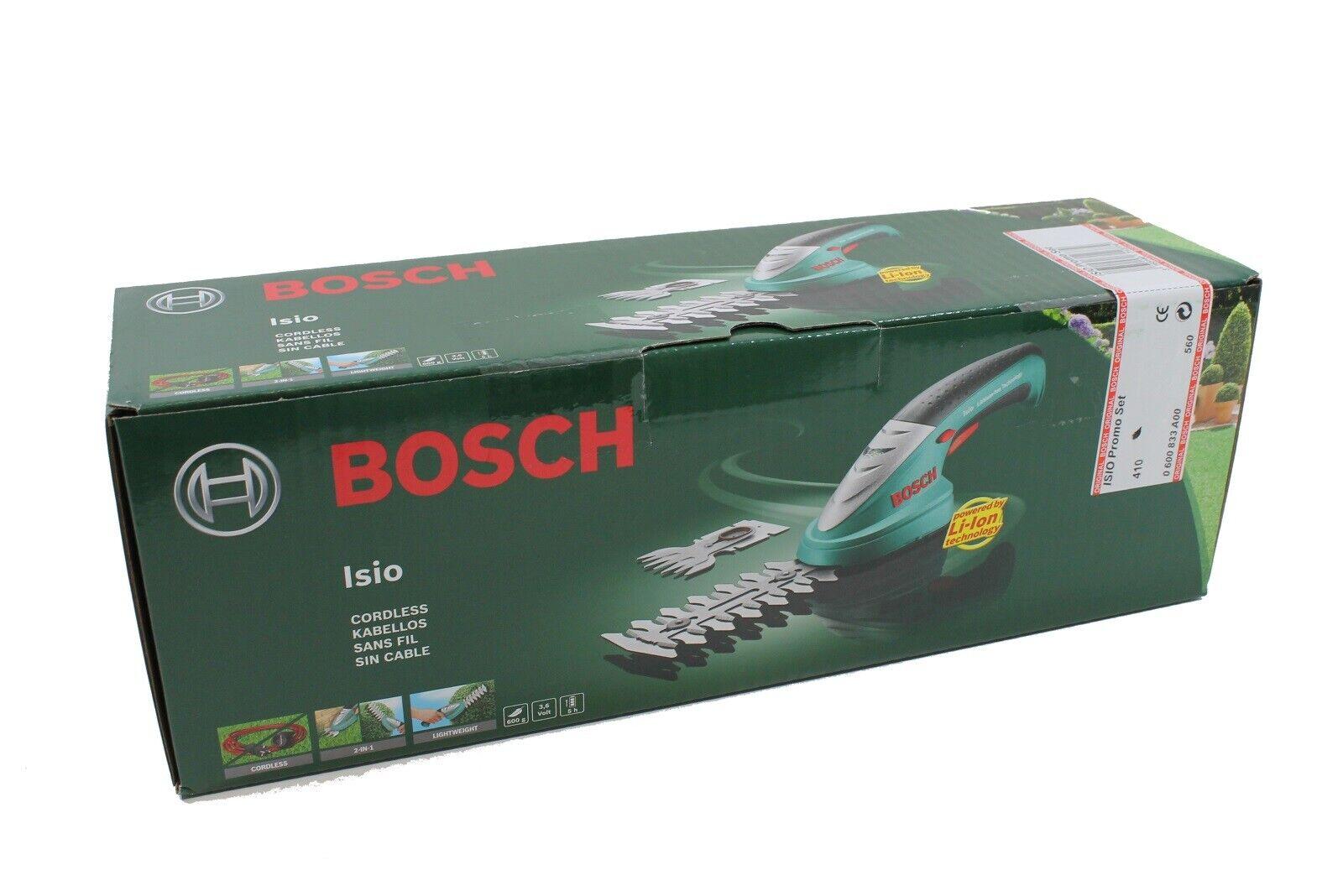 """Bosch Isio Akku Strauchschere und Grasschere LiIo 3,6V Promo Set """"0600833A00"""""""