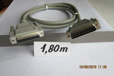 Cable PC  DB 25 mâle / femelle   1,80 m