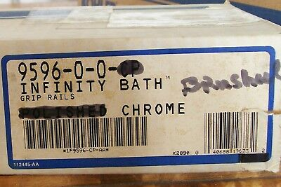 Chrome Bath Tub Rail (VTG KOHLER BRUSHED CHROME GRAB BARS INFINITY BATH TUB GRIP HAND RAILS 9596 CB )