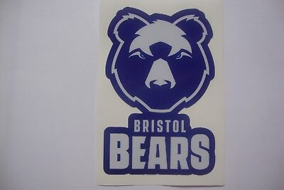 2 x  BRISTOL BEARS RUGBY  STICKERS .  100mm x 65mm approx