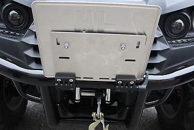 Kennzeichenhalteplatte klappbar Kennzeichenhalter ATV Quad Kawasaki Suzuki Adly