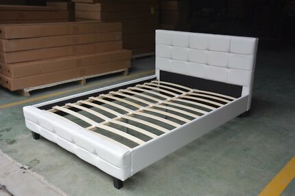 【Beand New】quality PU leather bed frame, double/queen