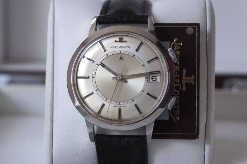 """JUMBO AUTOMATIC MEMOVOX 855—EUROPEAN JAEGER LECOULTRE SIGNATURE—STEEL—""""JL"""" CROWN - watch picture 1"""
