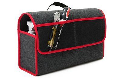 Kofferraum Organizer Cube (Kofferraumtasche Organizer Werkzeugtasche Autotasche Rand in ROT für NISSAN)