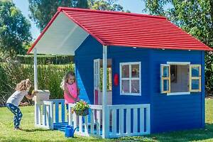 Large Wooden 2400x2400 Ground Level Cubby House Play House Fort East Perth Perth City Area Preview