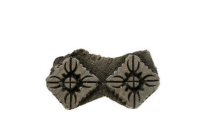 Antique Bunta Stamped Wood Printing Fabric Textile Batik Rajasthan India NP17E12