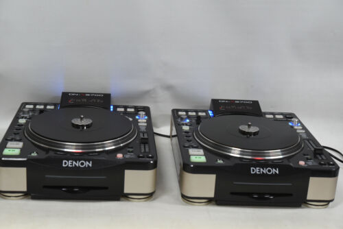 Pair Denon DJ DN-S3700 Digital Media Turntable with CD Player and USB Interface