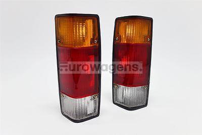 VW Caddy MK1 Pickup 79-92 Orange Rear Tail Lights Lamp Pair Set Driver Passenger