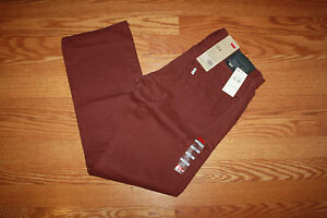 NWT Mens 514 LEVIS Slim Straight Fit 5 Pocket Zipper Fly Brick Red  Sz 32 30