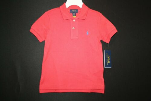 NWT POLO RALPH LAUREN BOYS SHORT SLEEVE  SHIRT SIZE 4 4T Brick Red Collared NEW