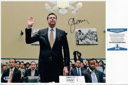 James Comey FBI Director Signed 11x14 Photo BAS COA Autograph Donald Trump