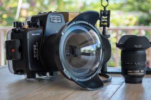 Underwater Housing fr Nikon D750, Lens Dome, Lighting Tray & Nikkor 10-24mm Lens