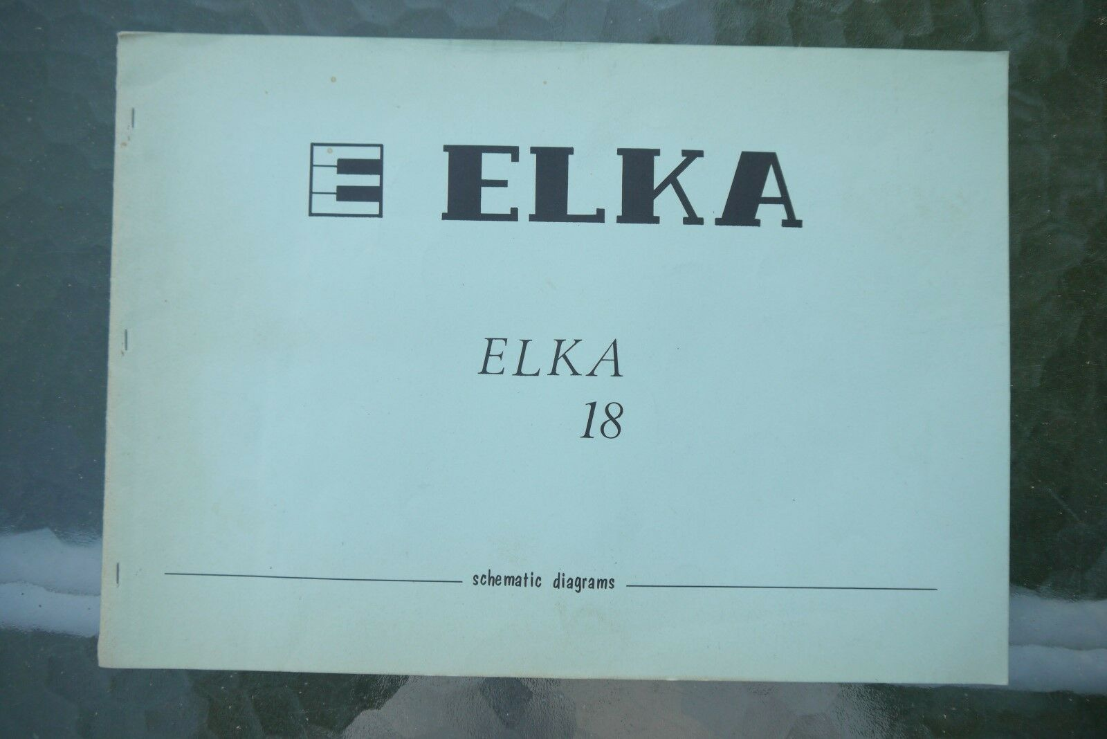 Elka Elka 18 Electronic Organs Schematic Diagram