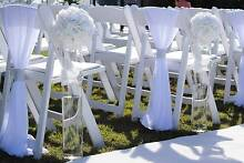 White Folding Padded White Chairs - Americana Chairs - FOR HIRE Sydney City Inner Sydney Preview