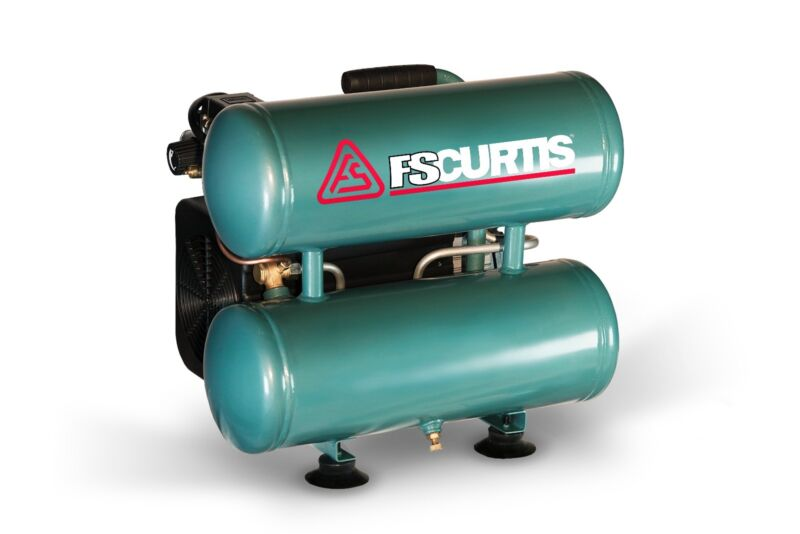 FS Curtis Garage 2HP Twin Stack Portable Air Compressor 115/60/1