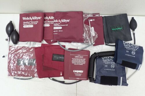 (10) Large Adult 12 Blood Pressure Cuffs, Welch Allyn Flexi-Port Trimline etc