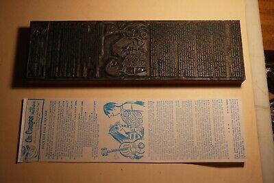 1960s Printing Letterpress Printer Block Decorative Print Cut Hippies