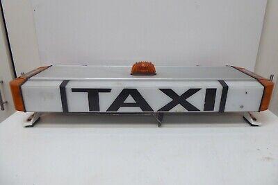 VINTAGE TAXI CAB CAR ROOF LIGHT UP ADVERTISING SIGN GARAGE MENS DEN LAMP