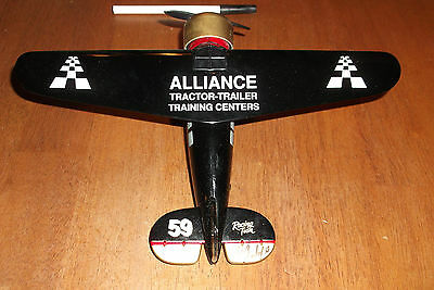 Robert Pressley Signed Alliance Racing Airplane 1 32 Die Cast Metal Bank  37