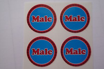 """12 Malc  CROWN GREEN STICKERS  1""""   LAWN BOWLS FLATGREEN  AND INDOOR BOWLS"""